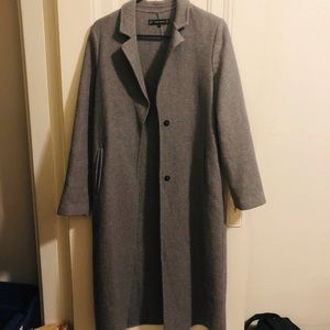 ZARA Long Faux-Wool Overcoat